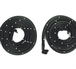Precision Door WeatherstripKit, Left and Right Hand, 2 Piece Kit, Fits 2 Door Hardtops/Convertibles DWP 1410 55