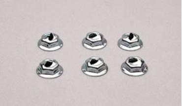 Corvette Emblem Nut Set, Front, 1957-1974