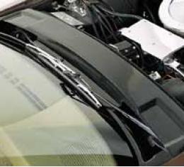 Corvette Windshield Wiper Arm Cover, Black,1973-1982