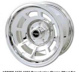 Corvette Wheel, Reproduction, Chrome, Set of 4, 1968-1982