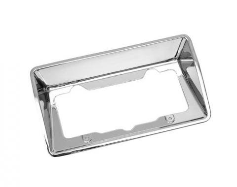 Corvette License Plate Housing Bezel, Rear, Driver Quality, 1968-1973