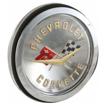 Trim Parts 58-60 Corvette Front and 58-61 Gold Rear Emblem Assembly, Each 5087