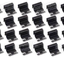 Corvette Windshield Moulding Clips, Coupe 24 Piece Set, 1963