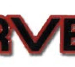 Corvette Emblem, Rear Bumper Corvette Bright Red, 1985-1990