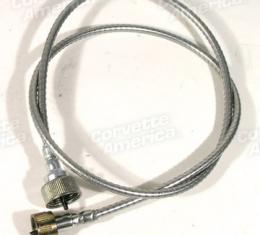 """Corvette Tachometer Cable, With Steel Case 39 1/2"""", 1955 V8, 1955-1957"""