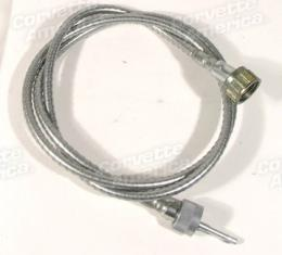 Corvette Tach Cable, with Steel Case, 6 Cyinder, 1953-1955