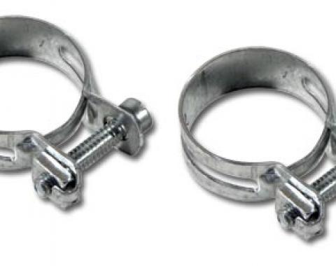 Corvette Water Pump Bypass Hose Clamps, 327, 1963-1967