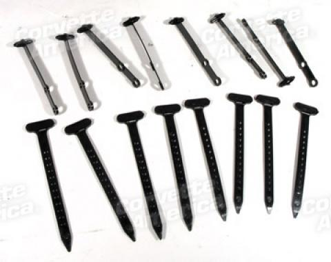 Corvette Heater Hose Tie Straps, 15 Piece Set, 1965-1967