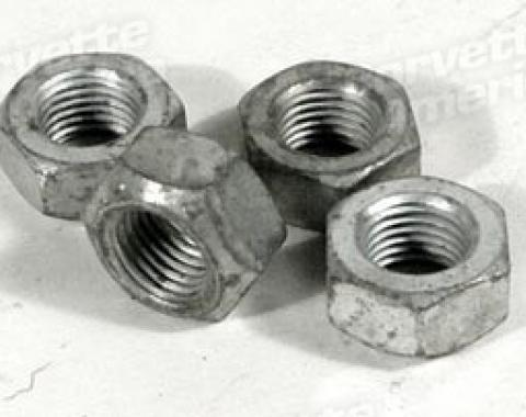 Corvette Control Arm Alignment Nuts, 4 Piece Set, 1966-1982
