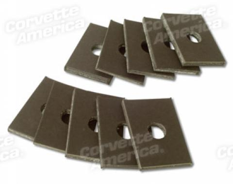 Corvette Body Mount Shims, Cardboard 10 Piece, 1953-1962