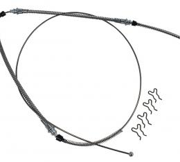 Corvette Parking Brake Cable, Rear, Stainless Steel, 1965-1982