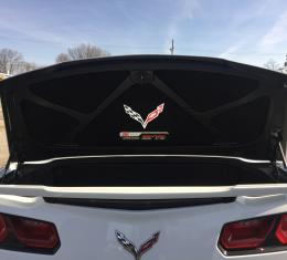 Corvette Trunk Lid Inner Liner, C7 Z06 Supercharged Logo, Black, 5 Piece, 2014-2019