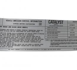 Corvette Decal, Emission L48, 1978