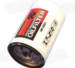Corvette Oil Filter Lt1/Lt4 Perf Gold - K&N, 1992-1996