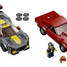 Chevrolet Corvette C8.R Race Car & 1968 Vintage Lego Set
