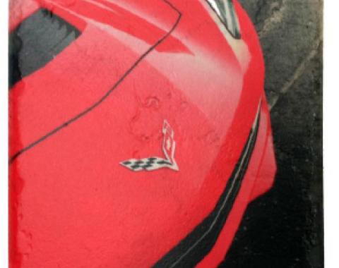 Corvette 7th Generation Stone Tile Coaster, Red