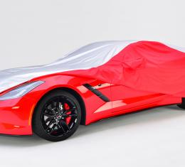 Corvette Stingray Intro-Guard Car Cover, Silver & Red, with Embroidered Logo,  2014-2017