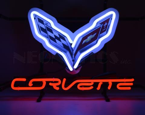 Neonetics Junior Size Neon Signs, Corvette C7 Junior Neon Sign