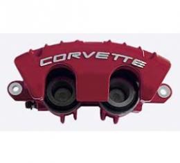 Corvette Brake Caliper, AC Delco, Z06, Left Front, Red, 1997-2004
