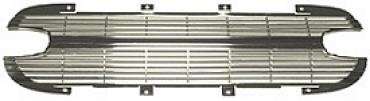 Corvette Grille, Front, Aluminum, With Silver Finish, NOS 1961