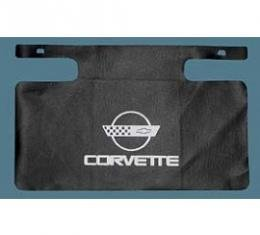 Corvette Gas Filler Paint Protector, With White Emblem, 1984-1996