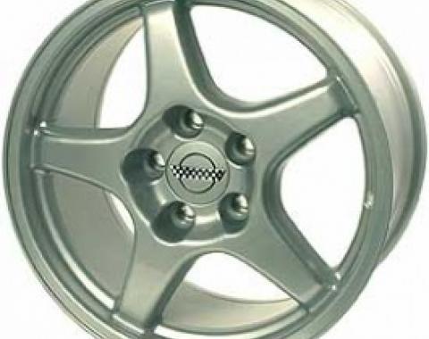 "Corvette Aluminum Wheel, 17"" x 11"" x 50mm, 5-Spoke, 1988-2004"