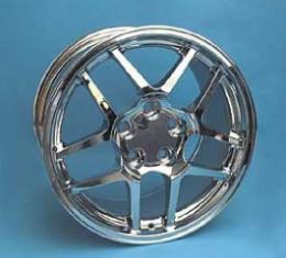 """Corvette Z06 Style Reproduction Wheel, 17"""" x 9.5"""", Chrome, 1988-2004"""