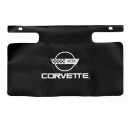Corvette Gas Filler Paint Protector, With Silver Emblem, 1984-1996