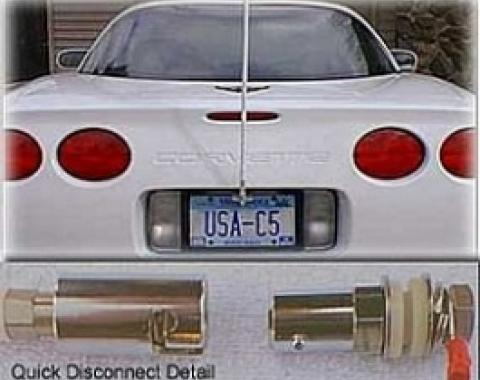 Corvette CB NGP Antenna System, With Quick Disconnect & White Antenna Mast, 1997-2004