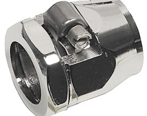 "Corvette Heater Hose Fitting, 5/8"", Chrome, 1962-1982"
