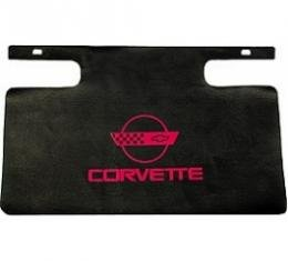 Corvette Gas Filler Paint Protector With Red Emblem, 1984-1996
