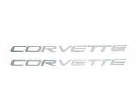 "Corvette Fuel Rail Cover Decals,  ""Corvette"" Letters, 1997-2004"