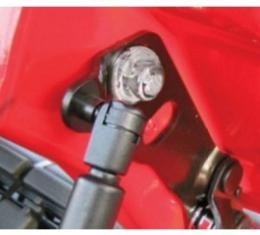Corvette Hood Hinge Bolt Cover Set, Chrome, 1997-2004