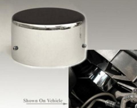 Corvette Cooling Fan Motor Cover, Chrome, 1997-2004