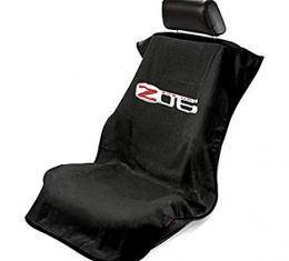 Seat Armour 2005-2013 Corvette Seat Towel, Black with C6 Z06 Logo SA100COR6ZB