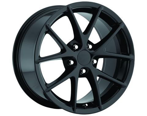 "Corvette C6 Z06 Spyder Wheel Set, Black, 18"" x 9.5""/19"" x 12"", BLEM 2006-2013"