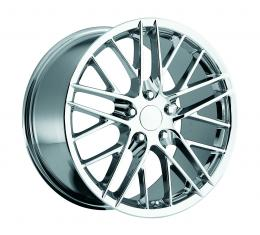 "Corvette C6 2009 ZR1 Style Chrome Wheel Set, 18"" x 8.5""/19"" x 10"", 2005-2013"