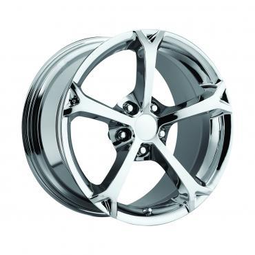 "Corvette Wheel, C6 Grand Sport Chrome, 17"" x 8.5"", +56 Offset, 1988-2004"