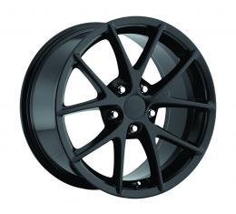 "Corvette C6 Z06 Spyder Wheel Set, Black, 18"" x 9.5""/19"" x 12"", BLEM 2006-2013"