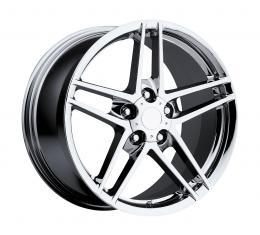 "Corvette C6 Z06 Chrome Wheel, Reproduction, 19"" x 12"", +59 Offset, Rear, 2006-2013"