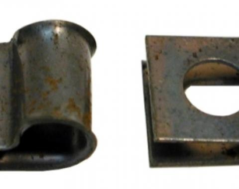Corvette Deck Lid and Hood Release Cable Clamps, 1963-1982