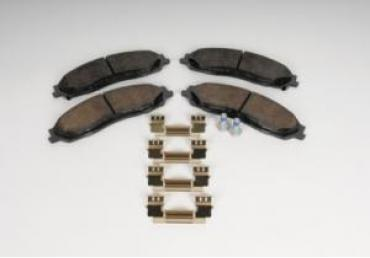 Corvette Brake Pad Kit, Front Axle, AC Delco, 2003-2013