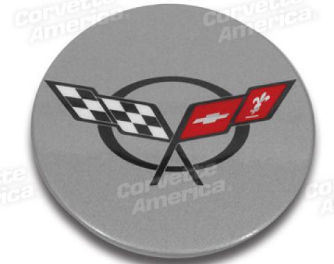 Corvette Center Cap, Magnesium Wheel & Export, 1997-2004