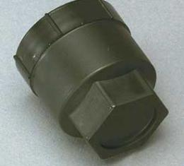 Corvette Lug Nut Cap, Black, Plastic, 1984-1985