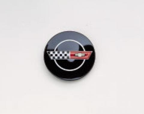 Corvette Wheel Emblem, Center Cap For Original Equipment Aluminum Wheels, 1984-1985