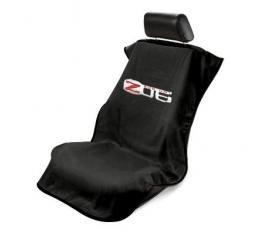 Seat Armour 2005-2013 Corvette Seat Towel, Black with Z06 Logo SA100CORZB