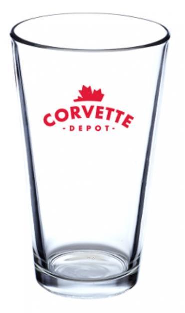 Corvette Depot 16 oz. Libbey Pint Glass
