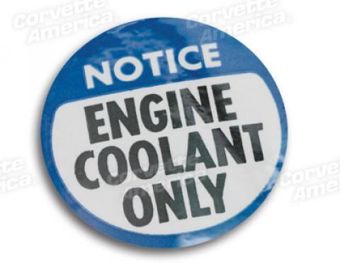 Corvette Decal, Coolant Warning, 1978-1981