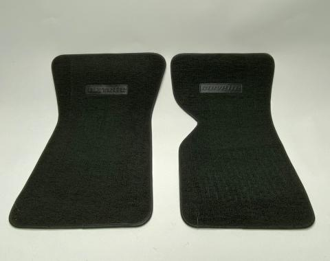 Corvette Floor Mats, 2 Piece ACC 80/20 Loop, Charcoal (35) BLEM 1968-1976