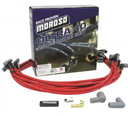 Corvette Moroso Ultra 40 Unsleeved Custom-Fit Wire Sets, Red, 1975-1982